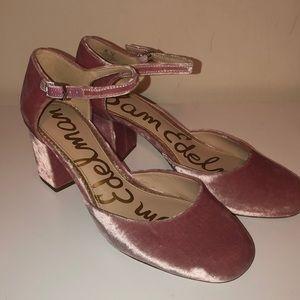 Sam Edelman velvet shoes pink blush
